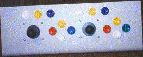 Front view of control panel